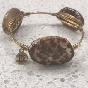 Bourbon and Bowties brown & gold bracelet